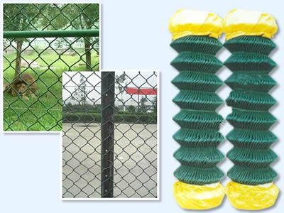 PVC Coated Chain Link Fence - Attractive Sport Fence