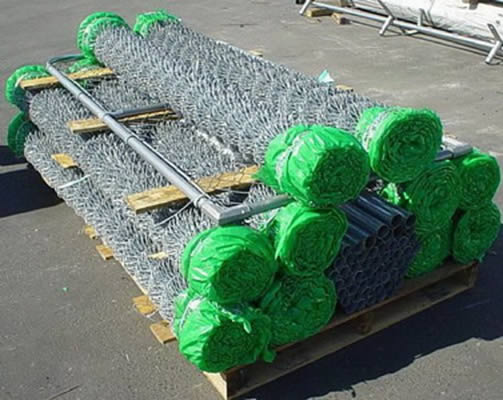 Galvanized Chain Link Fence Package with Fence Posts