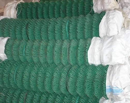 PVC Chain Link Fence Package with Plastic  Paper