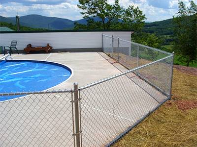 Aluminum Coated Chain Link Fence Fabric For Pool And