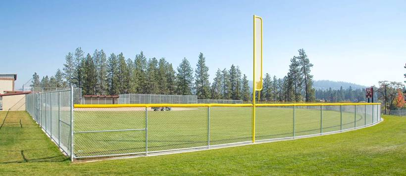 Chain Link Baseball Softball Outfield Fencing And Backstop