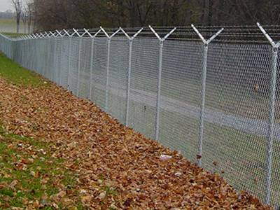 Chain Link Barbed Wire Anti Intruder Fence for Higher Level Protection