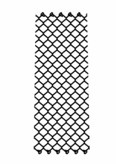 The drawing of chain link fence fabric.