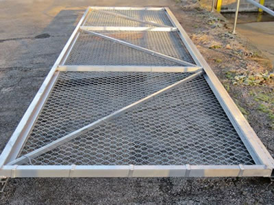 Single And Double Swing Gates For Industrial And