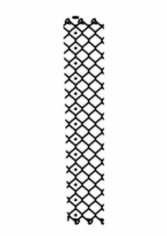 A drawing of diamond count of chain link fabric.