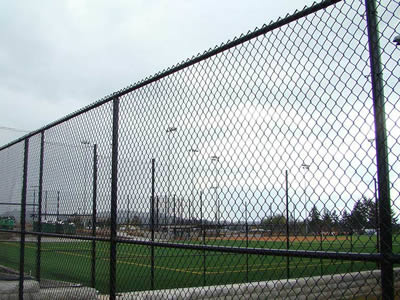 Chain Link Football Fence Galvanized Pvc Chain Link