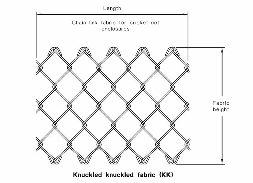 cricket net fencing enclosures made from chain link fabric