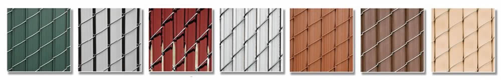 green white silver coffee red and other slats colors on chain link - Chain Link Fence Slats