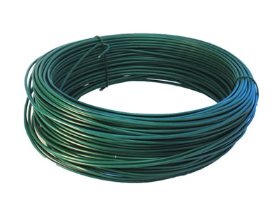 Organic polymer coated steel tension wire used with chain link fence a coil of dark green polymer coating tension wire with 9 gage core diameter keyboard keysfo Gallery
