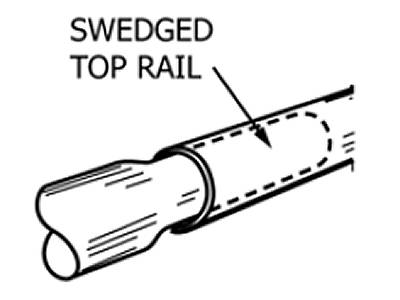 The drawing of swedged top rail for chain link fence.