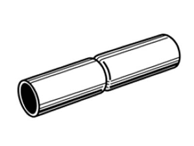The drawing of top rail sleeve for chain link fence construction.