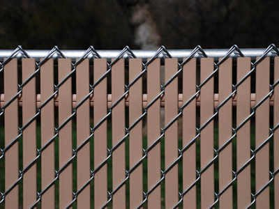 slats for chain link fence in brown color