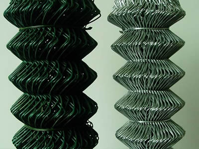 Green PVC coated Chain Link Fence in rolls
