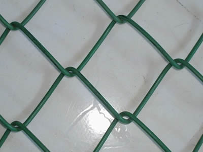 Chain Link Fence with Green PVC coated
