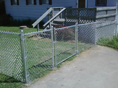 Residential Galvanized Chain Link Fencing